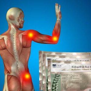 Тело человека и упаковка пластыря Zb pain relief