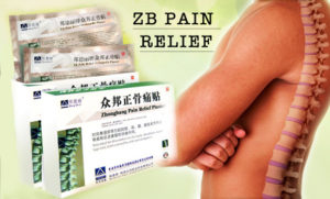 Упаковка пластыря Zb pain relief