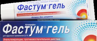 Препарат Фастум гель