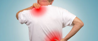 Очаги боли в спине у мужчины